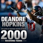 With that catch, DeAndre Hopkins became 5th player in franchise history to have 2000 receiving yards. NUUUUUUUUUUUK. http://t.co/qHUGul4eH7