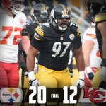 Thats a final from Pittsburgh! Steelers 20 Chiefs 12  And that means... http://t.co/KkZQhlPpKI