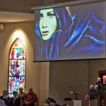 Another great photo of the video reflection during the 9 am Mass. Great colours. http://t.co/4XfL8crpZI
