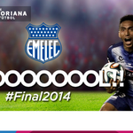 20 ¡Gooooooool de @CSEmelec! Ángel Mena anota el primer gol. @CSEmelec 1 - @BarcelonaSCweb 0. #Final2014 http://t.co/PaeXRmG2uS