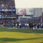 Celebración de Ángel Mena @CSEmelec 1 @BarcelonaSCweb 0 #Final2014 http://t.co/3hL68oK6hN