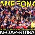 FutbolNica felicita al Saúl Álvarez por coronarse como campeonas del Torneo Apertura de la Primera División Femenina. http://t.co/EDcNX9uNGf