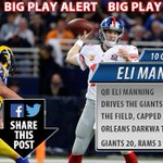 BIG PLAY ALERT: QB Eli Manning hands off to RB Orleans Darkwa for a 12-yard touchdown run! #Giants 20, #Rams 3 http://t.co/Z7bXoVWkn4