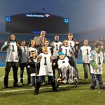 """Cam Newtons still at the stadium, holding neat event for some pretty special kids  """"Christmas With Cam."""" #Panthers http://t.co/ITdUmET8KK"""