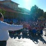 Seguimos con las posadas azules, ahora en la Plaza Benito Juárez con los amig@s de Santa Rosalía. http://t.co/08QI0y3lQW
