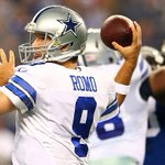 Tony Romo is had himself a DOMINANT first half. 13/14, 155 yds, 3 TD, 0 INT Dallas 28 Indianapolis 0 http://t.co/hAHRHCWsEE