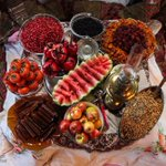 The typical treats & goodies found in most #Iran-ian homes on Shabe Yalda, the longest night of the year. http://t.co/pK53ikxlUt