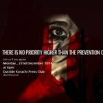 """""""There is no priority higher than prevention of terrorism"""", Join us, if you agree, today at 6pm outside KPC. #Karachi http://t.co/7vwtBEiDAC"""