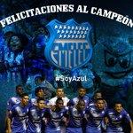 La hinchada azul celebra. Club Sport #Emelec consigue la estrella 12. #SoyAzul http://t.co/yKUQ4yxekK