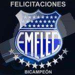 Felicitaciones a #Emelec el nuevo bicampeón del futbol ecuatoriano. http://t.co/xJA69rty2M