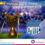 ¡FINAL DEL PARTIDO! @CSEmelec se proclama campeón del fútbol ecuatoriano 2014 y logra el Bicampeonato. http://t.co/fQJHI9Nj0p
