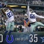 End of the 3rd: Cowboys 35, Colts 0. #INDvsDAL http://t.co/mI9PJnOP6n http://t.co/Z27trF375W