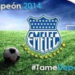 ¡FELICIDADES BOMBILLO! Tame felicita a @CSEmelec, el campeón del fútbol ecuatoriano 2014! #EmelecBicampeon #Emelec http://t.co/lCvqk8OSUf