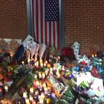 The growing memorial for fallen @NYPDnews Officers Rafael Ramos and Wenjian Liu in Bed-Stuy. http://t.co/yfj3O4CLqk