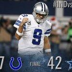 FINAL: Cowboys 42, Colts 7. #INDvsDAL http://t.co/u5BTVREPDE http://t.co/j3GePqddZH