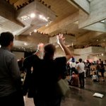 Berkeley Art Museum (@BAMPFA) closes with performance, parade to new home: http://t.co/5GJWaeW7st http://t.co/ZyGZpMU9uP