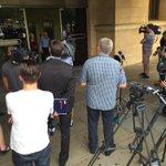Huge media scrum waiting for Henry Keogh to walk free. @TodayTonightSA http://t.co/G0Yk6ZGJmQ