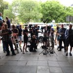 This is the media scrum that awaits Henry #Keogh - now on bail but yet to walk out of Supreme Court @abcnewsAdelaide http://t.co/br1wIPhESc