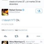 @MashiRafael Decretado por el presidente se suspende clases el 22 y 23 mañana #nadieaclaseporelmashi http://t.co/iC6QSQjvI0