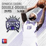 Boogie on down! @boogiecousins records a double-double as the @SacramentoKings defeat the @Lakers http://t.co/OhWrfLDMF5