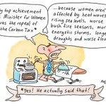 Abbott revels in his achievements as the Minister for Women #auspol http://t.co/bsTq1zEc0Z
