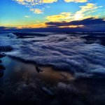 A foggy and beautiful view from the Global 1 helicopter @GlobalBC http://t.co/L6GmoDXK19
