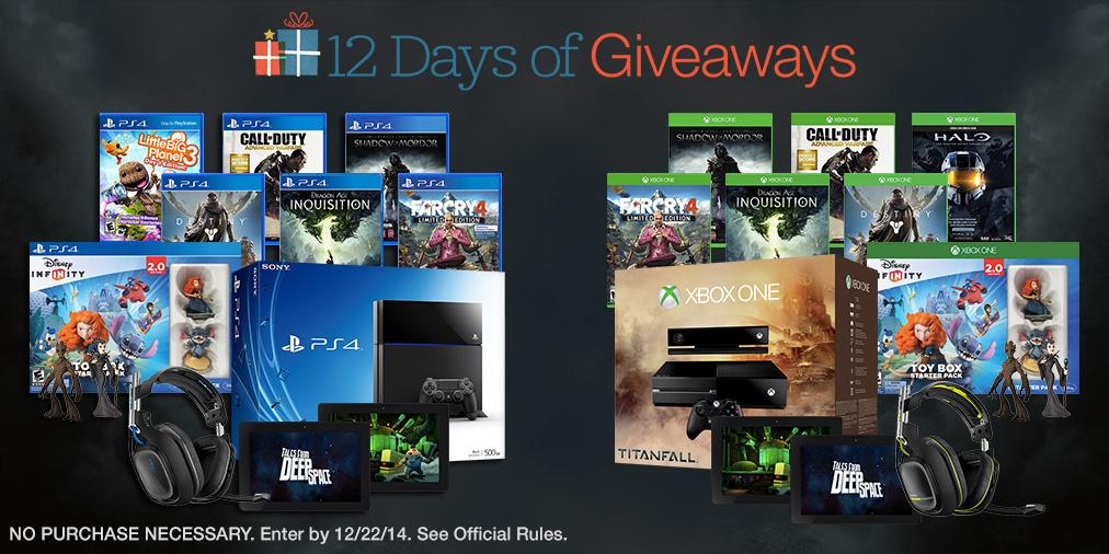 Follow & RT for a chance to win a #PS4 or #XboxOne bundle! #AmazonSweeps #12DaysOfGiveaways http://t.co/148D86kSW6 http://t.co/oEvu3ACK35