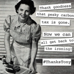 Tony Abbott declared his biggest achievement as Minister for Women was the the repeal of the climate tax. #thankstony http://t.co/gm5Yg8LyZJ