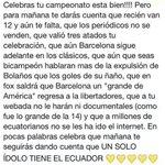 Voy a dejar esto por aquí. UN SOLO IDOLO TIENE EL ECUADOR @BarcelonaSCweb http://t.co/E5yXgvsMZV