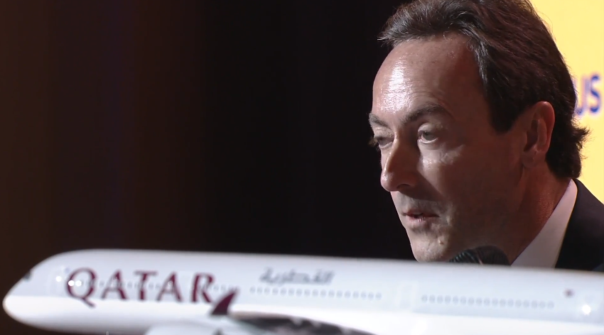 I am happy that @QatarAirways is our 1st & toughest customer, makes our work easier for other airlines. #QatarA350 http://t.co/liKzpPWsWR