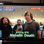 Napalm Death出てきたワロタwwwwww #YOUは何しに日本へ http://t.co/bqe26TbGcG