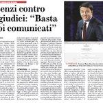 Renzi va in TV da Fazio e, nel solco di Berlusconi, attacca i giudici. È tutto suo padre. http://t.co/X2FZcha7Af