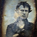 The first ever selfie, and first known photograph of a human in US history, taken by Robert Cornelius in 1839 http://t.co/fY1UlX23Fo