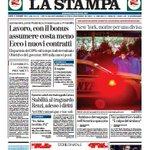 Buongiorno! La prima pagina de @la_stampa di oggi: http://t.co/7WxHEPW8it http://t.co/MYYZewCQGY
