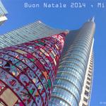 Buon Natale da #Milano #Expo2015 #VediamoPositivo P.zza Gae Aulenti, #Christmas at #UnicreditTower #Milan #Italy http://t.co/UH997mRWN9