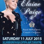 We are pleased to announce @elaine_paige & The Royal Philharmonic Concert Orchestra will perform here 11 July 2015. http://t.co/sl1XzFX2Eu