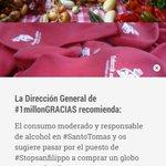 #1millonGRACIAS @StopSanfilippo está en #SantoTomás junto Arriaga. Talo, txistorra y a SOPLAR...GLOBOS! http://t.co/KBmyLpy4Um
