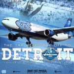 Wheels Up! On the way to Detroit! #GoHeels http://t.co/lDFAiF33Jo
