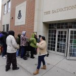 People began lining up at the Salvation Army in York around 7 am for the annual Angel Tree program at 10 @ydrcom http://t.co/DbSeeL7ZSR