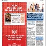 En un ratito en los quioscos con @DiarioSUR,edición vespertina con la lista de lotería de navidad #tehapodidotocar http://t.co/gDrOe4012C