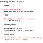 Zur Erinnerung an Udo Jürgens. Unser geänderter Programmablauf für den Abend. http://t.co/zajV0R1ZDb