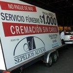 [INSÓLITO] Secuestran cartel móvil que promocionaba servicios fúnebres http://t.co/tnkPLWbaSt #LaPlata http://t.co/38ccXkwZiY