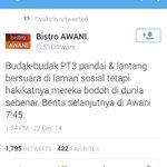Penghinaan tertinggi Bistro Awani terhadap budak PT3. Hiks http://t.co/Mij4mSvt5s