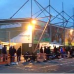 .@YTFC fans camp outside Huish Park to get their hands on @ManUtd FA Cup 3rd round tickets http://t.co/Sc9yvaYr50 http://t.co/gYfYRF6nVW