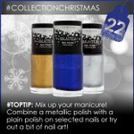 Its day 22 of #collectionchristmas! This metallic trio could be yours! Follow us & re-tweet to enter! X #competition http://t.co/vKTPTLYJOJ