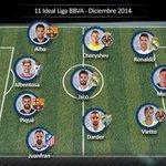 Kameni y @SergiDarder en el equipo ideal del mes de diciembre de @LaLiga ¡ENORMES! #VamosMalagaCarajo http://t.co/h0wLZkipyQ