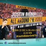 "Beliebers! Sudah siap menyaksikan @justinbieber ""All Around The World"" malam ini pkl. 22.30 WIB? #JustinBieberOnNETtv http://t.co/5Bl3Vb5lGT"