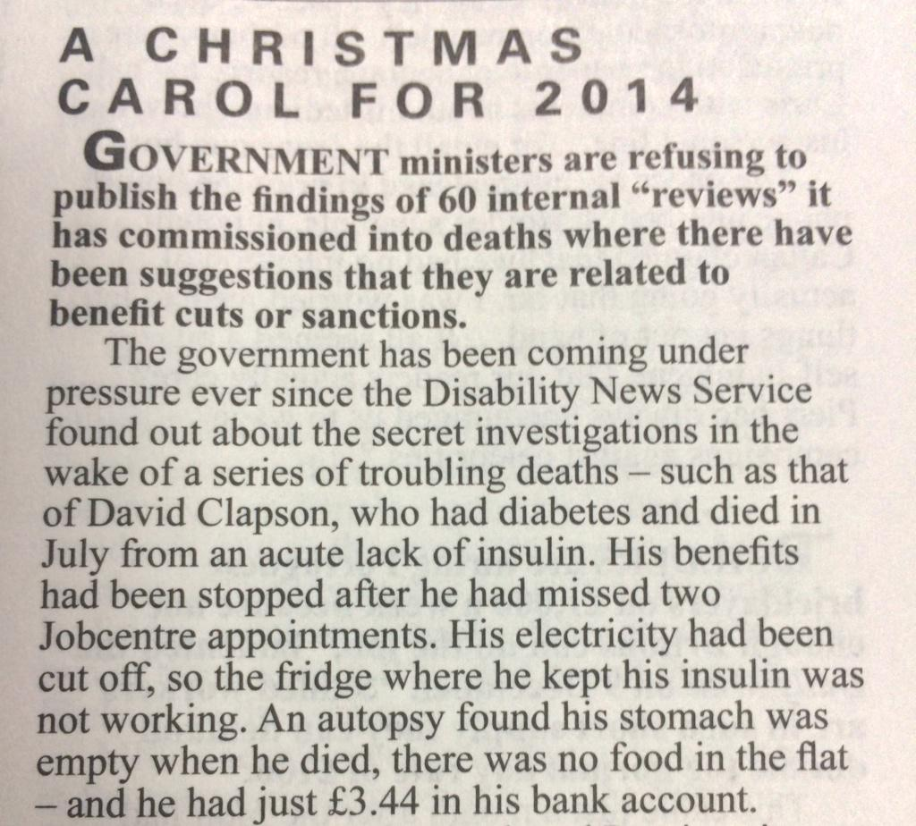 This is really grim reading in Private Eye, benefits sanction death. http://t.co/4Gf1ilgt3g