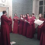Peterborough Cathedral Youth Choir in our first floor lounge - beautiful sound http://t.co/wRScQMxxES
