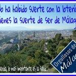 ¿Cómo ha ido la lotería? ¿Ha tocado algo? Recuerda que lo importante es la salud ???? #Málaga http://t.co/mnfp7GaSgP